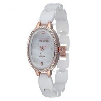 Keramikuhr damen | weißgolden Armbanduhr