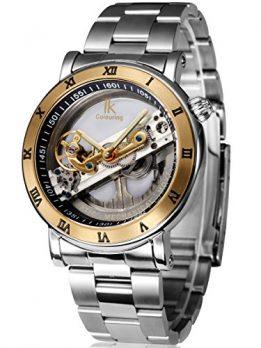 mechanische automatik armbanduhr   silber edelstahl armbanduhr