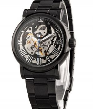 armbanduhr mechanische   schwarz metall armbanduhr   mechanische armbanduhr schwarz