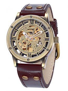 mechanische Armbanduhr   bronze-braune Armbanduhr
