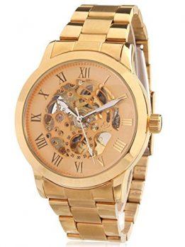 gold-metall armbanduhr   mechanische armbanduhr gold