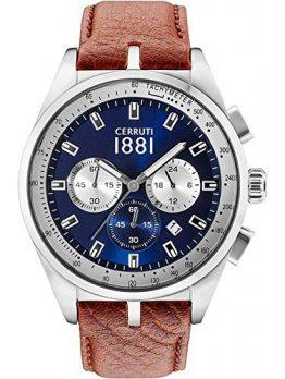 Cerruti Uhr | Herrenarmbanduhr Leder braun