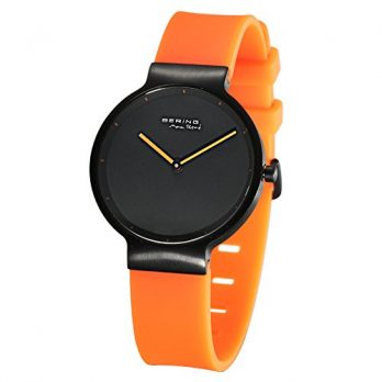 Bering Uhr | Damenuhr | Armbanduhr Damen Orange Schwarz