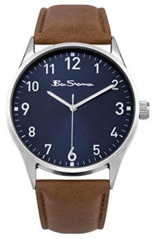Ben Sherman Uhr | Herrenuhr blau braun | blaues ziffernblatt herren armbanduhr