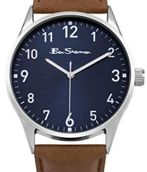 Ben Sherman Uhren | Herrenuhr blau braun | blaues ziffernblatt herren armbanduhr