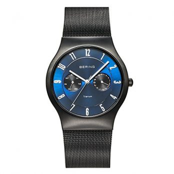 Bering Uhr | Herren Armbanduhr | Herrenuhr Bering | Schwarz-Blaue Armbanduhr