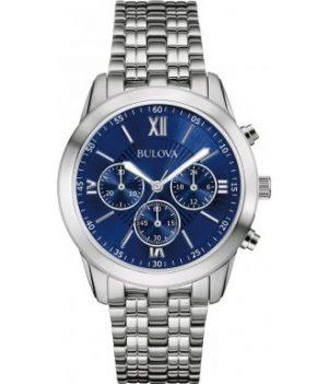 Bulova Uhr | Herrenarmbanduhr | Herrenuhr mit blauen Ziffernblatt