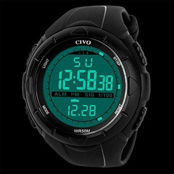Digitaluhr | Armbanduhr digital |chronographenuhr mit LED | LED Armbanduhr