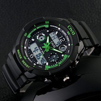 multifunktionsuhr | out door armbanduhr | grüne armbanduhr