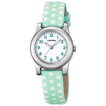 Calypso Uhren | Kinder Armbanduhr | Grüne Armbanduhr | Armbanduhr mit weiß-grünem Ziffernblatt