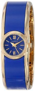 Caravelle New York Uhren   Damenarmreif mit Uhr   blaue damenuhr   uhr mit armreif