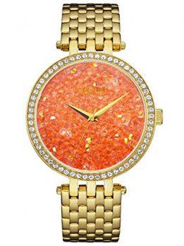 Caravelle New York Uhren   damenuhr orange   armbanduhr mit orangenem ziffernblatt