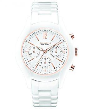Caravelle New York Uhren   damenuhr weiß   weiße armbanduhr