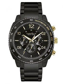 Caravelle New York Uhren   Herrenuhr   schwarze chronographen armbanduhr
