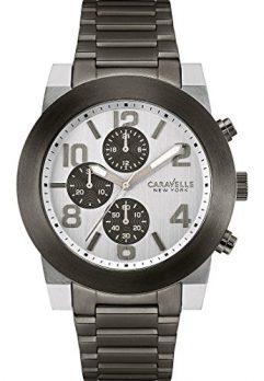 Caravelle New York Uhren   herrenuhr silber schwarz   armbanduhr silber schwarz
