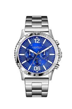 Caravelle New York Uhren   herrenuhr   herren armbanduhr edelstahl mit blauen ziffernblatt