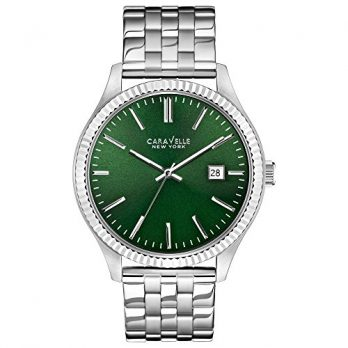 Caravelle New York Uhren   herrenuhr grün   armbanduhr mit grünem ziffernblatt