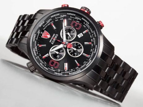 Detomaso Uhr | Chronographen Uhr schwarz | schwarze Armbanduhr | Herrenuhr schwarz