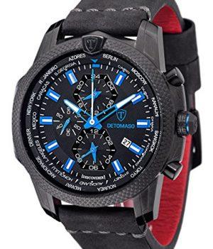 Detomaso Uhr | Herren Uhr von Detomaso | Armbanduhr mit Alarm Funktion | XXL Armbanduhr