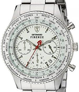 Detomaso herren armbanduhr firenze chronograph quarz sm1624c wh