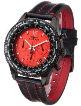 Detomaso Uhr | rot-schwarze Armbanduhr | Armbanduhr mit rotem Ziffernblatt | wasserdichte armbanduhr | Armbanduhr mit schwarz-roten Lederband