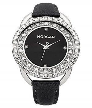 Morgan Uhr | Armbanduhr Morgan | Damenuhr Morgan | schwarze damenuhr mit strass steine | armbanduhr schwarz
