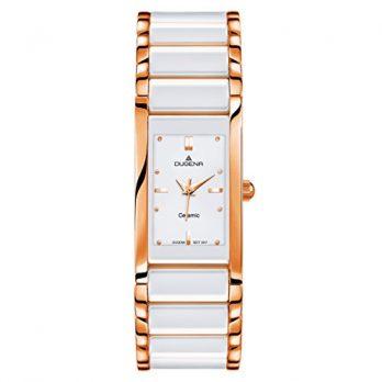 Dugena Uhr | Damenuhr Dugena | Damenuhr mit weißem Ziffernblatt