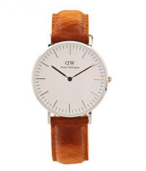 Daniel Wellington Uhr | Leder Armbanduhr | Helles Leder Armbanduhr