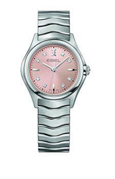 Ebel Uhr   damenuhr ebel   Edelstahl Armbanduhr   Damenuhr mit rosa ziffernblatt