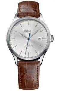 Ebel Uhr   Armbanduhr mit braunem Lederband