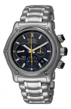Ebel Uhr   Herrenuhr Ebel   chronographen Uhr mit schwarzem Ziffernblatt