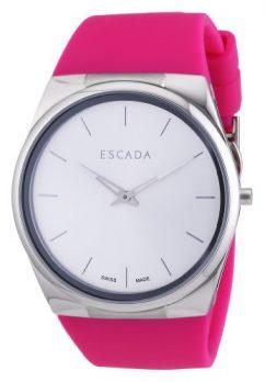 Escada Uhr   Damenuhr Escada   pink damenuhr   Armbanduhr mit pink silikonband