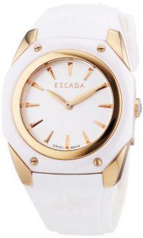 Escada Uhr   Damenuhr Escada   Silikonarmbanduhr Damen   weiße damenuhr   armbanduhr weiß   Uhr weiß mit silikonband