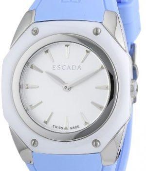 Escada Uhr   Damenuhr Escada   Blaue Armbanduhr   Armbanduhr Silikon Blau   Damenuhr mit blauem silikonband