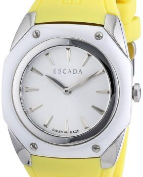 Escada Uhr   Damenuhr Escada   Gelbe Armbanduhr   Damenuhr gelb   silikonarmbanduhr