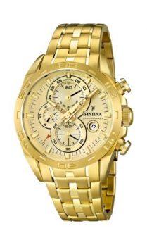 Festina Uhr | Herrenuhr Festina | XL Uhr | Chronographen Uhr | Uhrenfarbe Gold