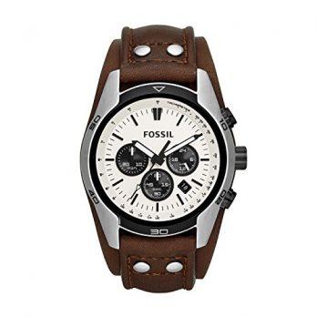 Fossil Uhr | Armbanduhr Fossil | Herrenuhr mit braunem Lederband | Herrenuhr mit Braunem Lederarmband