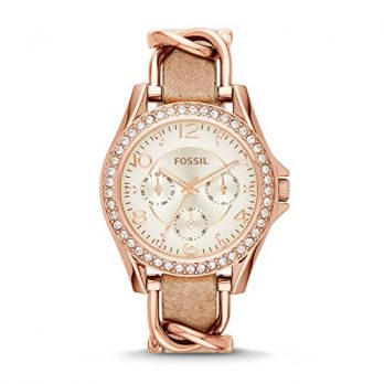 Fossil Uhr | Damenuhr Fossil | Rosé Gold farbige Uhr damen