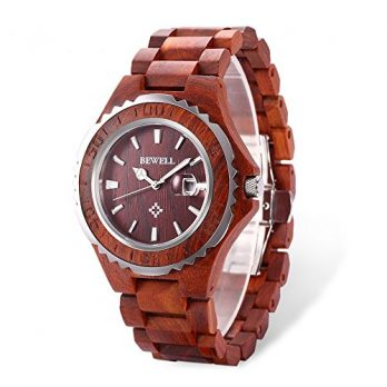 herren armbanduhr holz | retro armbanduhr | rotes sandelholz uhr