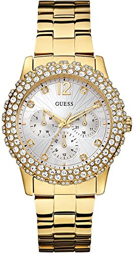 Guess damen armbanduhr chronograph quarz edelstahl w0335l2