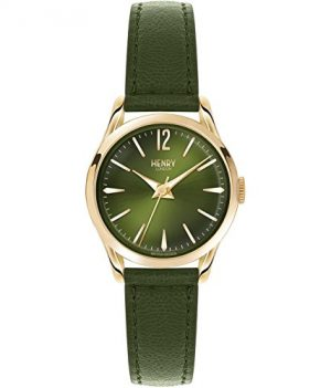Henry London Damen Uhr | Armbanduhr Henry London | Grüne Damen Armbanduhr