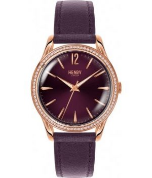 Henry London Damen Uhr | Armbanduhr Henry London | Violette Armbanduhr damen