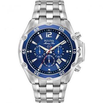 Bulova Uhr | Herrenarmbanduhr | Silber- Blaue Herrenuhr