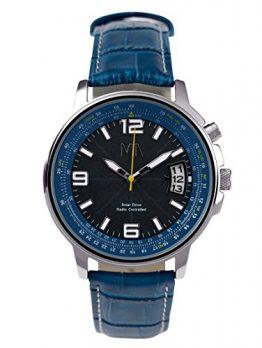 herren funk-solar armbanduhr | blaue armbanduhr herren