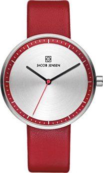 Jacob Jensen Uhr | Armbanduhr Jacob Jensen | rote Armbanduhr