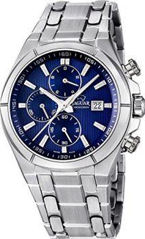 Herrenuhr   Jaguar Uhr   Armbanduhr Jaguar Herren   Silber-dunkelblaue Armbanduhr