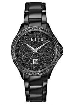 Jette Uhr   Armbanduhr Jette   Damenuhr Jette   schwarze Damenuhr