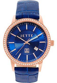 Jette Uhr   Armbanduhr Jette   Damenuhr Jette   Blaue Damenuhr   Blaue leder armbanduhr damen
