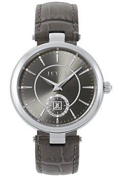 Jette Uhr   Armbanduhr Jette   Damenuhr Jette   graue Armbanduhr Damen   Lederarmbanduhr grau