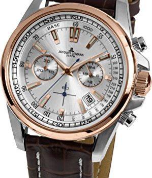 Jacques Lemans Uhr | Herrenuhr Jacques Lemans | Armbanduhr Jacques Lemans | Lederarmbanduhr herren